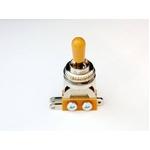 GP Factory(GPファクトリー) トグルスイッチ縦型 クローム アンバーボタン (エレキギターパーツ)