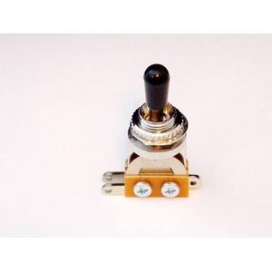 GP Factory(GPファクトリー) トグルスイッチ縦型 クローム ブラックボタン (エレキギターパーツ)