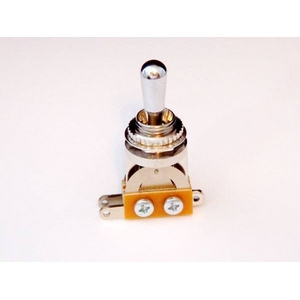 GP Factory(GPファクトリー) トグルスイッチ縦型 クローム クロームボタン (エレキギターパーツ)