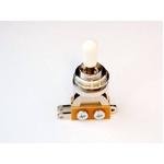 GP Factory(GPファクトリー) トグルスイッチ縦型 クローム ホワイトボタン (エレキギターパーツ)