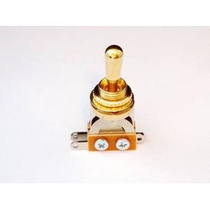 GP Factory(GPファクトリー) トグルスイッチ縦型 ゴールド ゴールドボタン (エレキギターパーツ)