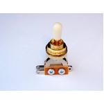 GP Factory(GPファクトリー) トグルスイッチ縦型 ゴールド アイボリーボタン (エレキギターパーツ)
