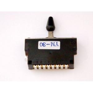 GP Factory(GPファクトリー) 3WAYレバースイッチ クローズ ブラックボタン (エレキギターパーツ)