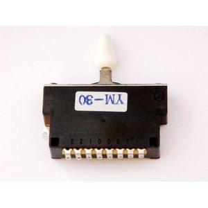 GP Factory(GPファクトリー) 3WAYレバースイッチ クローズ ホワイトボタン (エレキギターパーツ)