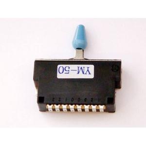 GP Factory(GPファクトリー) 5WAYレバースイッチ クローズ ブルーボタン (エレキギターパーツ)