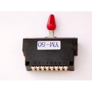 GP Factory(GPファクトリー) 5WAYレバースイッチ クローズ レッドボタン (エレキギターパーツ)