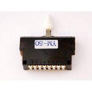 GP Factory(GPファクトリー) 5WAYレバースイッチ クローズ ホワイトボタン (エレキギターパーツ)