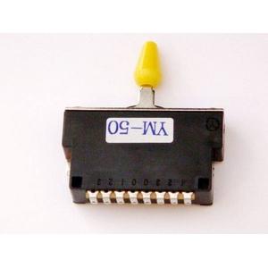 GP Factory(GPファクトリー) 5WAYレバースイッチ クローズ イエローボタン (エレキギターパーツ)