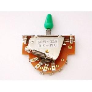 GP Factory(GPファクトリー) 3WAYレバースイッチ オープン グリーンボタン (エレキギターパーツ)