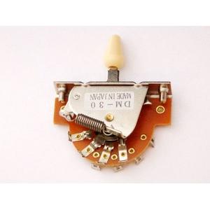 GP Factory(GPファクトリー) 3WAYレバースイッチ オープン アイボリーボタン (エレキギターパーツ)