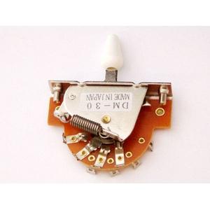 GP Factory(GPファクトリー) 3WAYレバースイッチ オープン ホワイトボタン (エレキギターパーツ)