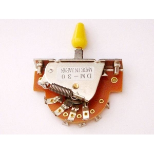 GP Factory(GPファクトリー) 3WAYレバースイッチ オープン イエローボタン (エレキギターパーツ)