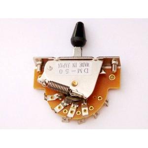GP Factory(GPファクトリー) 5WAYレバースイッチ オープン ブラックボタン (エレキギターパーツ)