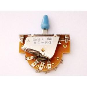 GP Factory(GPファクトリー) 5WAYレバースイッチ オープン ブルーボタン (エレキギターパーツ)