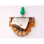 GP Factory(GPファクトリー) 5WAYレバースイッチ オープン グリーンボタン (エレキギターパーツ)