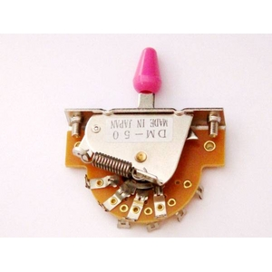 GP Factory(GPファクトリー) 5WAYレバースイッチ オープン ピンクボタン (エレキギターパーツ)