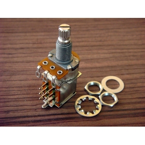 GP Factory(GPファクトリー) プッシュプルスイッチ付きポット 250KΩ Bカーブ (エレキギターパーツ)