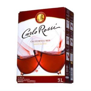 【ワイン】カリフォルニア産 カルロロッシ ボックスワイン 赤 3L