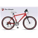 Lamborghini(ランボルギーニ) 自転車 クロスバイク 26・18SP TL-972 RED