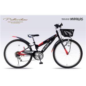 MYPALLAS(マイパラス) 子供用自転車 MTB24・6SP・CIデッキ付 M-824Z ブラック