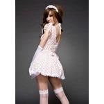 コスプレ 2011新作 【ハロウィン】 メイドのコスチューム(6点入り) CS6262K