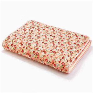 超軽量極薄敷布団ルナエアー セミダブル 花柄ピンク 綿100% 日本製