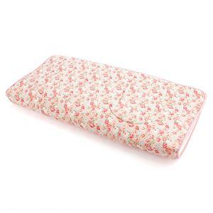 超軽量極薄敷布団ルナエアー ダブル 花柄ピンク 日本製
