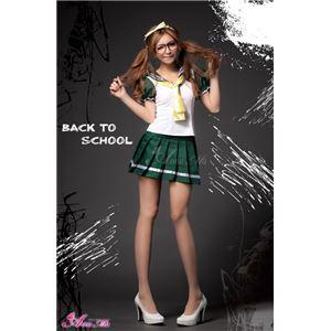 コスプレ セーラー服 コスチューム 衣装 z1163 メイド服 白 緑