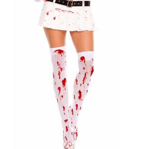血痕ニーハイ コスプレ ナース アイテム ストッキング 血まみれ ML4551