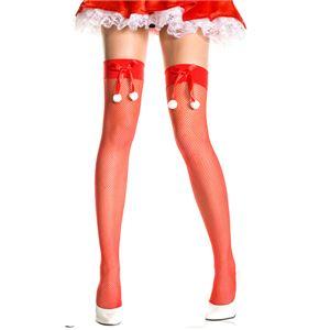 クリスマス コスプレ サンタコス ストッキング 赤 リボン セクシー サンタクロース クリスマス ML4954