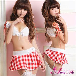 コスプレ コスチューム 女子高制服 制服 学生服 セーラー服 z434 赤 チェック