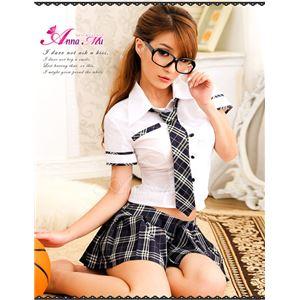 コスプレ コスチューム 女子高制服 制服 学生服 セーラー服 z451 紺 チェック