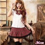 コスプレ コスチューム 女子高制服 制服 学生服 セーラー服 2点 z683 赤 チェックブレザーセーラー服