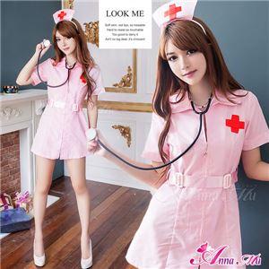 コスプレ ランジェリー コスチューム ナース ナース服 看護婦 z146 ピンク