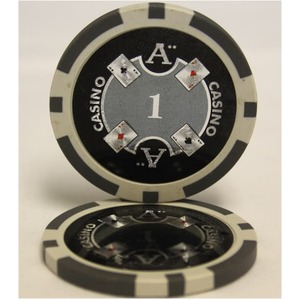 Quattro Assi(クアトロ・アッシー)ポーカーチップ(1)白 <25枚セット>
