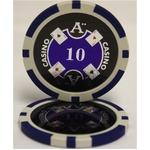 Quattro Assi(クアトロ・アッシー)ポーカーチップ(10)青 <25枚セット>