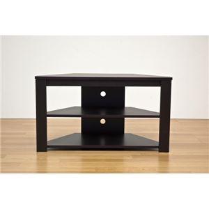 【訳あり・在庫処分】コーナーテレビ台/テレビボード 【幅80cm/20型〜32型対応】 ウォールナット 『Wega』 コード穴付き