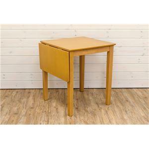 伸長式ダイニングテーブル/エクステンションテーブル 【幅60〜90cm】 ライトブラウン 木製 アジャスター付き