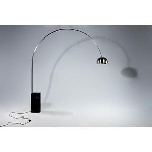 リビング照明器具 【ARCO LAMP/アルコランプ】 大理石ベース×ステンレスポール ブラック