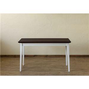 【在庫処分品】引き出し付きテーブル/パソコンデスク 【幅120cm×奥行45cm】 ダークブラウン 木脚 『Amelia』
