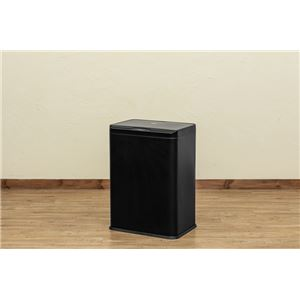 センサー自動開閉式 2分別 ダストボックス 50L ブラック (BK)