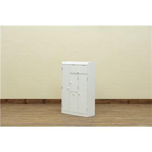 トイレラック ワイド収納 ホワイト(WH)