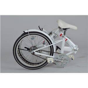 ゼロワン 20インチ 折り畳み自転車 ホワイト MG-ZRE20