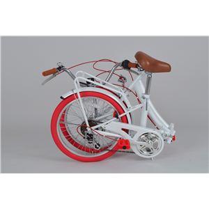 レグレ 20インチ 折り畳み自転車 ホワイト MG-CT206