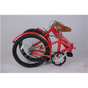 トロピカル5 20インチ折り畳み自転車 レッド MG-OEM20