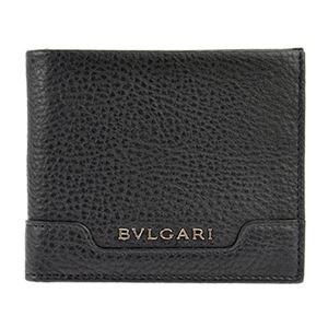 BVLGARI(ブルガリ) 34666 GRAIN/BLK 二つ折り財布