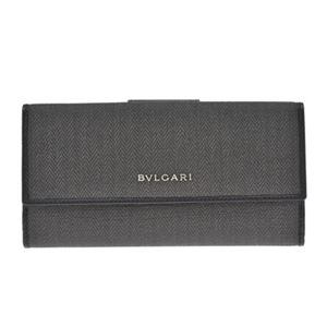 Bvlgari(ブルガリ) 32589 CANVAS/BLK 長財布