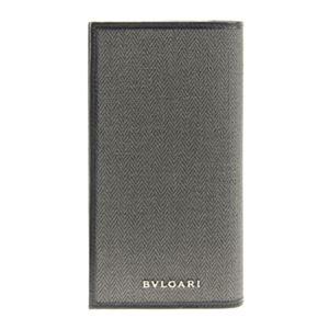 Bvlgari(ブルガリ) 32582 CANVAS/BLK 長財布