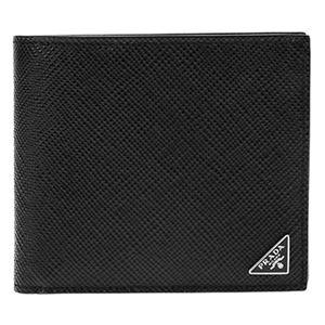Prada (プラダ) 2MO738 S/CUIR B/NER 二つ折り財布