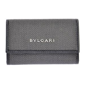 Bvlgari (ブルガリ) 32583 CANVAS/BLK キーケース
